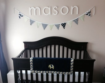 """Wooden Letters for Nursery, Baby Name, Custom 10"""" Wood Letters for Children Room Decor - Wall Hanging Letters"""