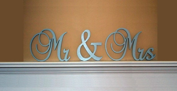 Mr & Mrs Custom Painted Wooden Wedding Letters-Home Decor