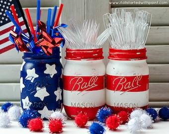 Stars & Stripes Mason Jar Flag