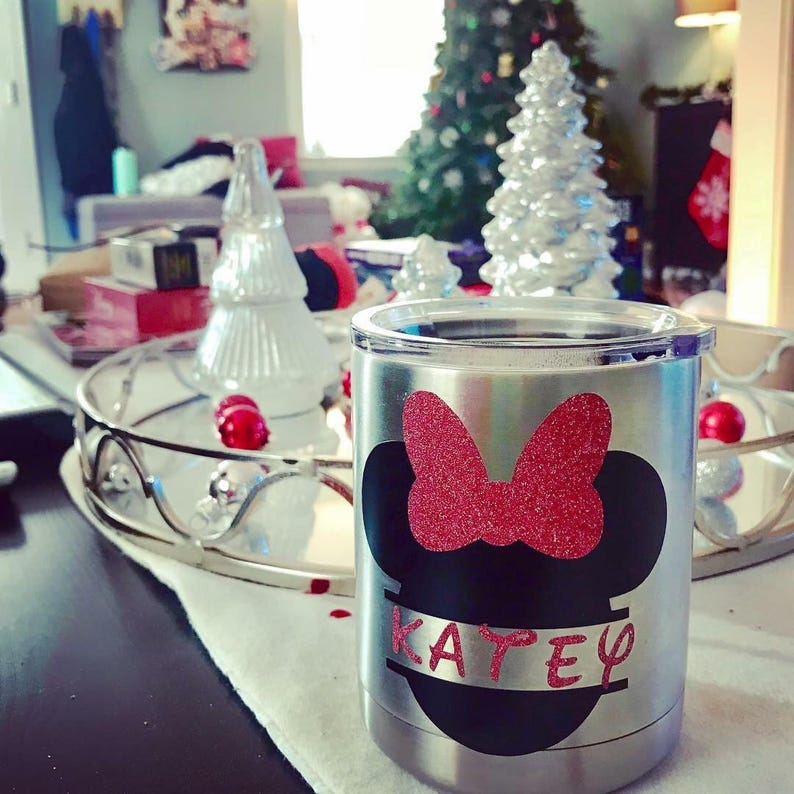 0ce8c66f45a Personalized Minnie Mouse Yeti   Etsy
