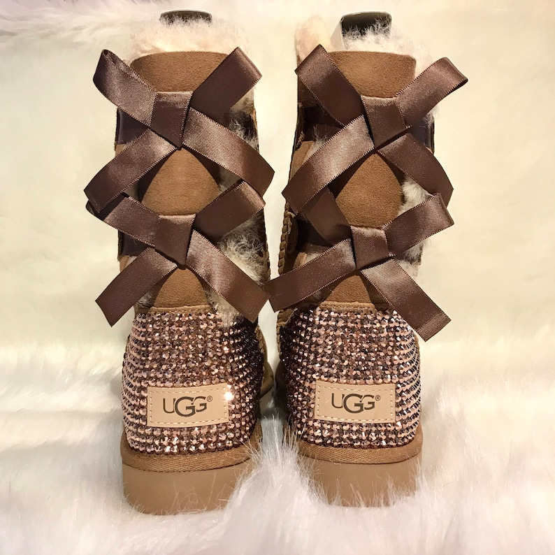Bling uggs FREE SHIPPING bling bailey bow chestnut uggs  ca8808998