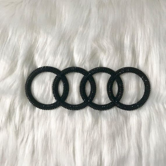 Bling Audi Emblem Sparkly Auto Emblems Bling Auto Parts Etsy - Audi car emblem