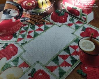 Plastic Canvas Homespun Apple Kitchen Patterns