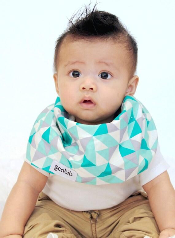 Baby Dribble Bib Bandana 100/% Cotton Scarf Catcher Blue//Pink//White Velco Fasten