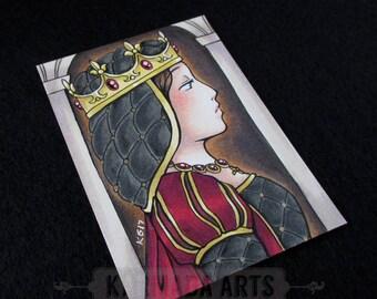Queen - Artist Trading Card (ATC) Original Marker Work
