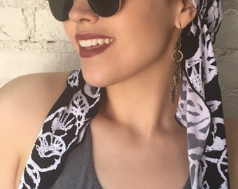 New Sun Visor Scarf Baseball Cap Sport Style Modern Hijab Tichel Hairwrap.  Handmade in Brooklyn by Uptown Girl Headwear 83c88e364e58