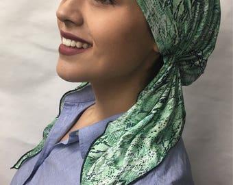 Uptown Girl Headwear Green Hair Wrap For Women