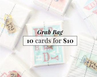 Grab Bag Sale / vente d'échantillons / 10 cartes pour 10 dollars
