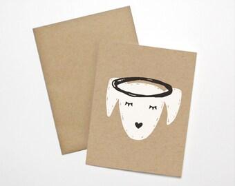 Carte de condoléances - sympathie-animal chien Angel
