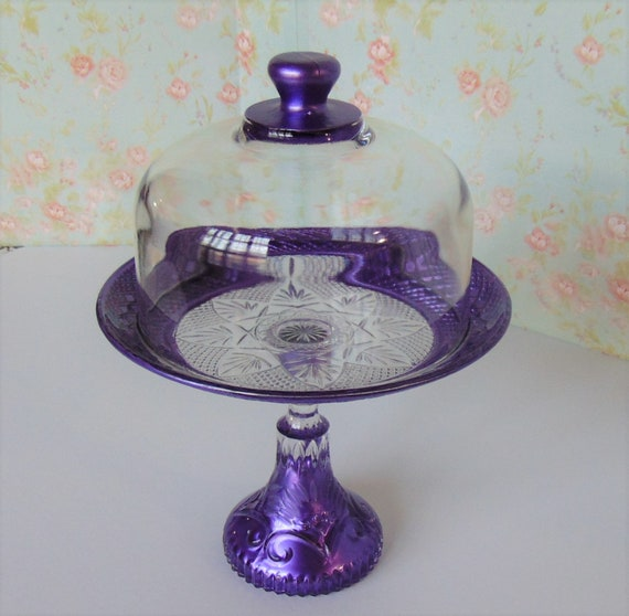 Small Cake Stand And Dome Glass, Mini Glass Cupcake Stand With Dome