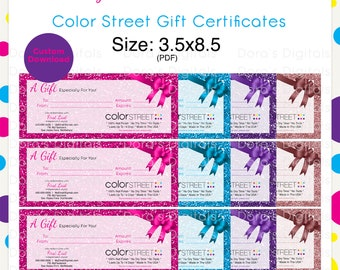 Color Street Gift Certificate --Custom Digital Download