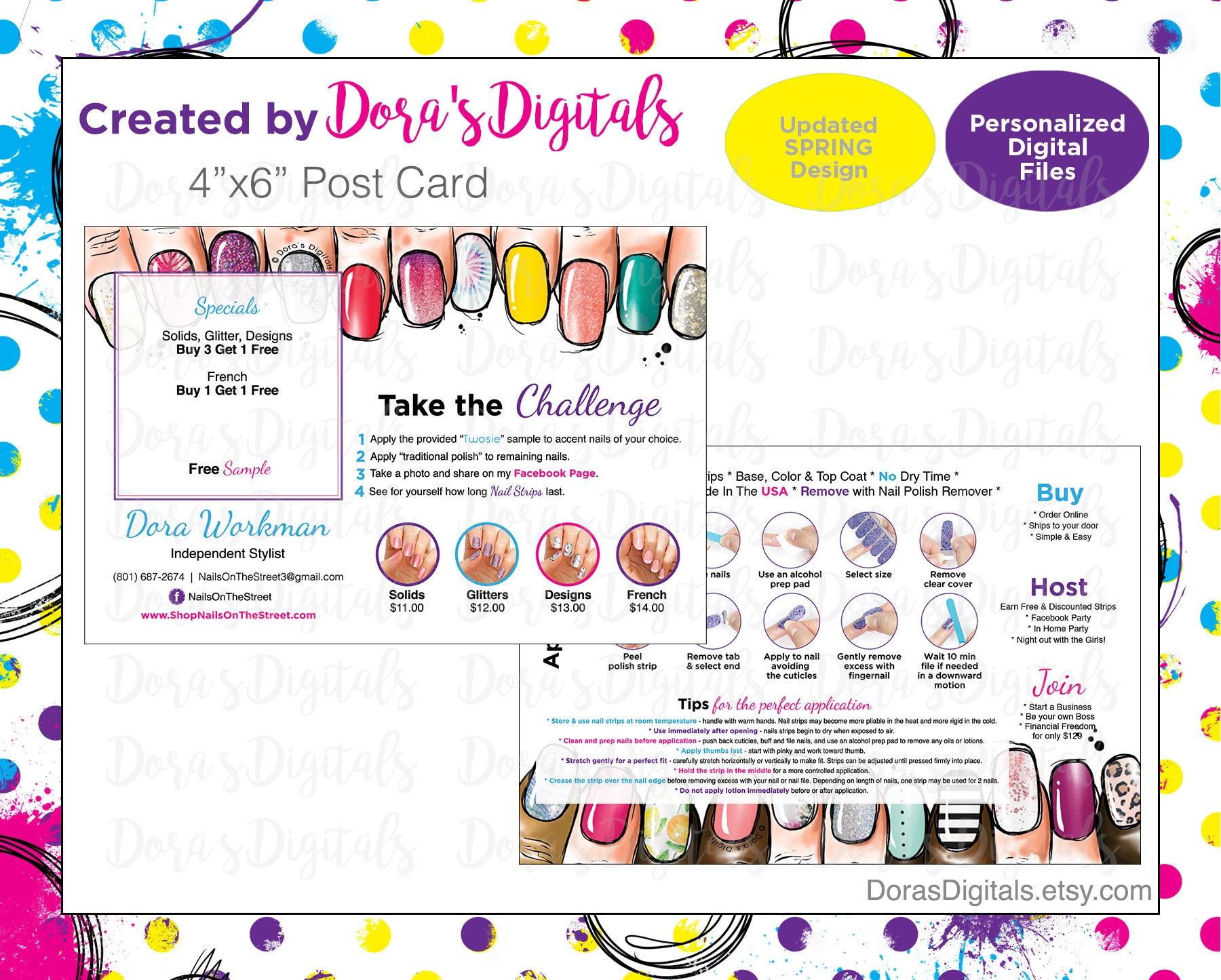 Twosie Post Card Bret2--PERSONALIZED Digital Download