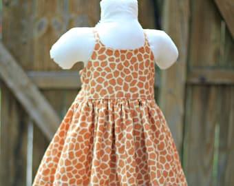 3t Ready to Ship Giraffe print twirl dress 5c585fb17