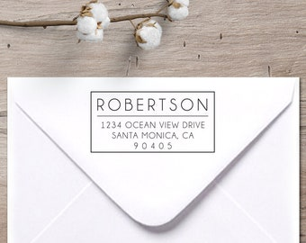 Return address stamp | Etsy