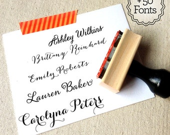 Custom Stamp Name Create Your Own Stationery With Gifts Personalized Under 20