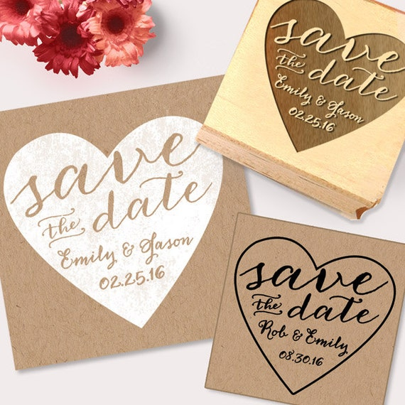 save the date stamp heart stamp diy save the date create etsy