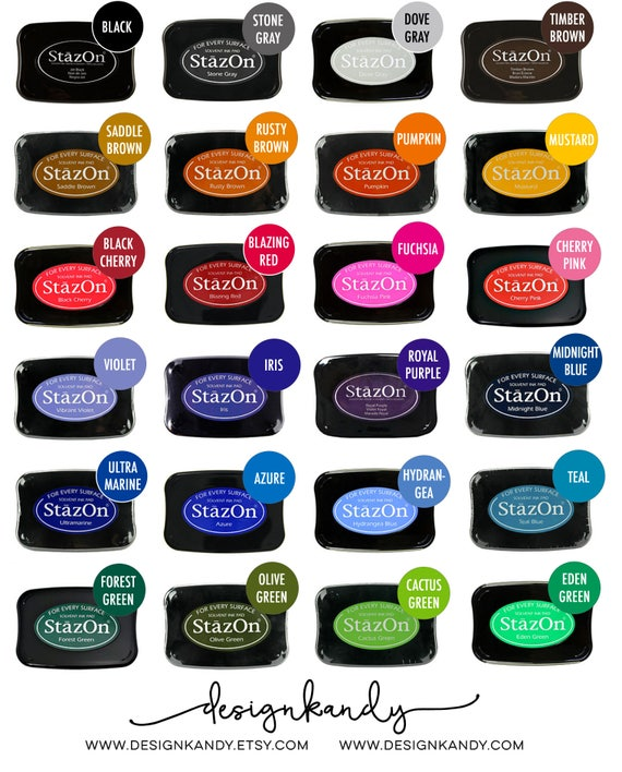 StazOn Ink Pads Permanent For Stamping Rubber Stamp