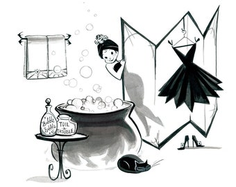 "Every Witch Way ""Cauldron"" Art Print"