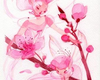 Springtime Fairies: Cherry Blossoms (traditional)