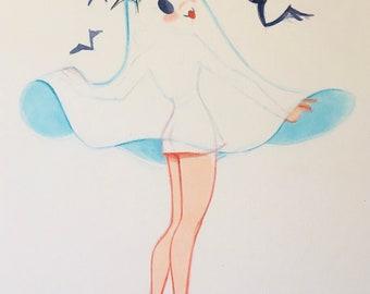 "Ghosties ""Bats!"" Art Print"