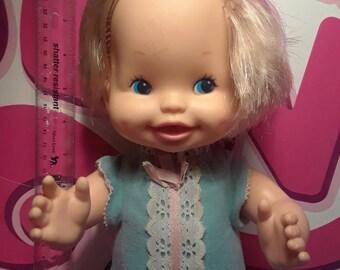 Vintage bye bye diapers doll