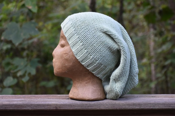 Cozy Eco Friendly Handmade Toboggan Recycled Sweater Warm Winter Hat One of a Kind Unique Gift Upcycled Knit Unisex Slouchy Beanie