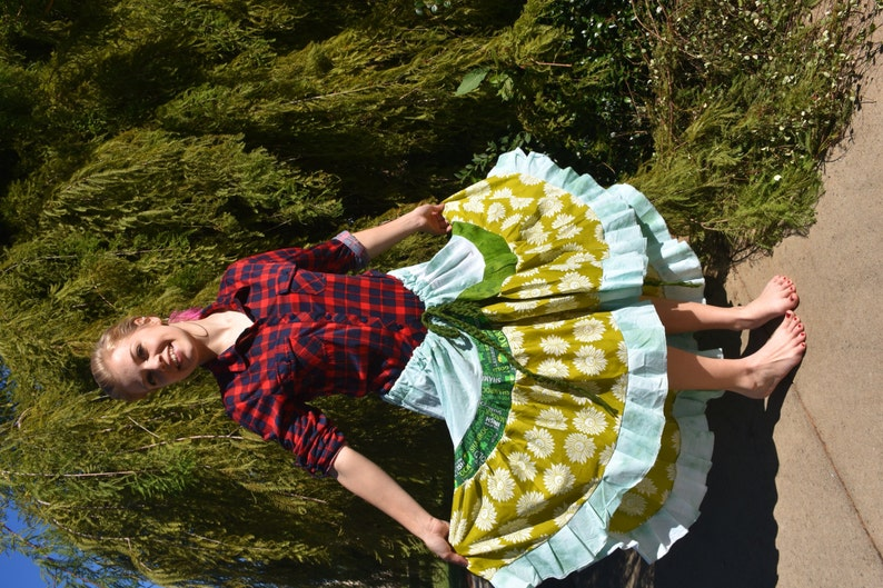 963e9fb25 Asymmetrical Gypsy Belly Dance Skirt Ethnic Tribal Hippie | Etsy