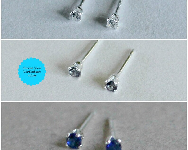 Gifts Under 50 Tiny Studs Gifts for Girls 3mm Studs Tiny Stud Earrings Small Studs Stud Earring Set Birthstone