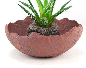 Small Red Stoneware Planter Unglazed Kusamono Pot Mini Succulent Planter Shallow Flower Pot Bonsai Accent Pot Red Clay Planter 05-18-07  sc 1 st  Etsy & Red flower pot | Etsy