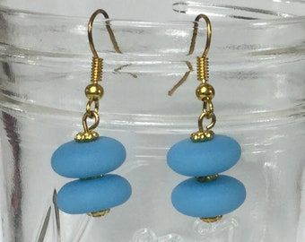 Turquoise Seaglass Earrings