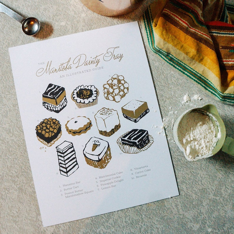The Manitoba Dainty Tray: Limited Edition 9 x 12 print image 0