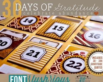 30 Days of Gratitude - DIY Printable Thanksgiving Advent Calendar