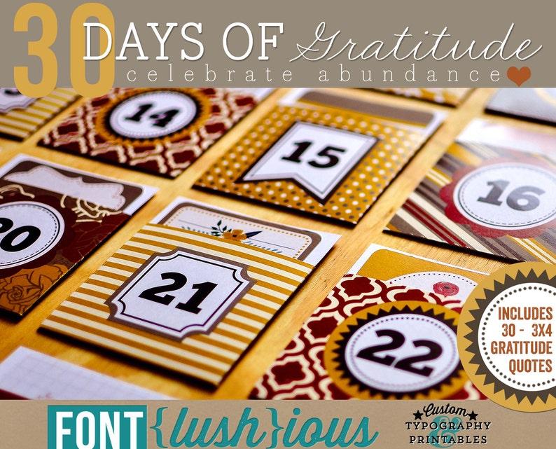 Calendario Dellavvento Lush.30 Giorni Di Gratitudine Calendario Dell Avvento Fai Da Te Del Ringraziamento Stampabile