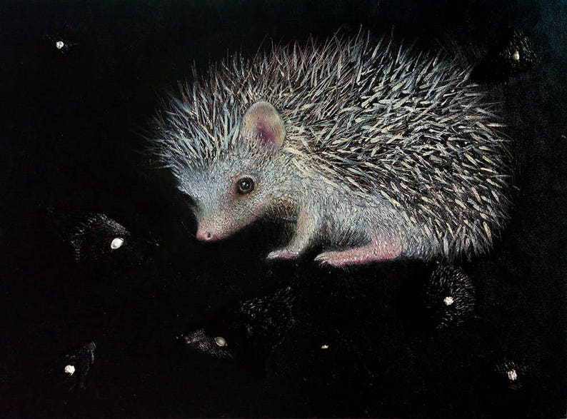 Hedgehog painting image 0
