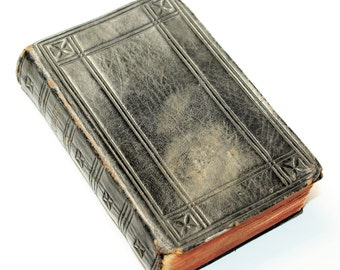 Tooled Leather Small Vintage Hymn Book (c1920s)