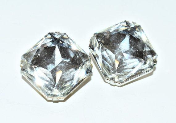 square shape Vintage sparkly paste diamante buckle