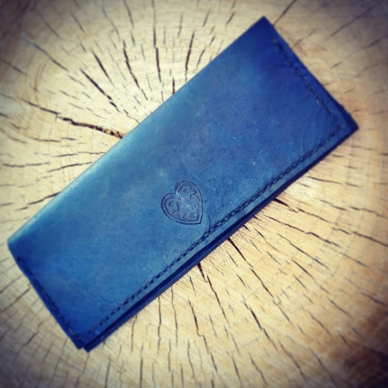 Ladies Handmade and Hand Stitched Leather Wallet image 0