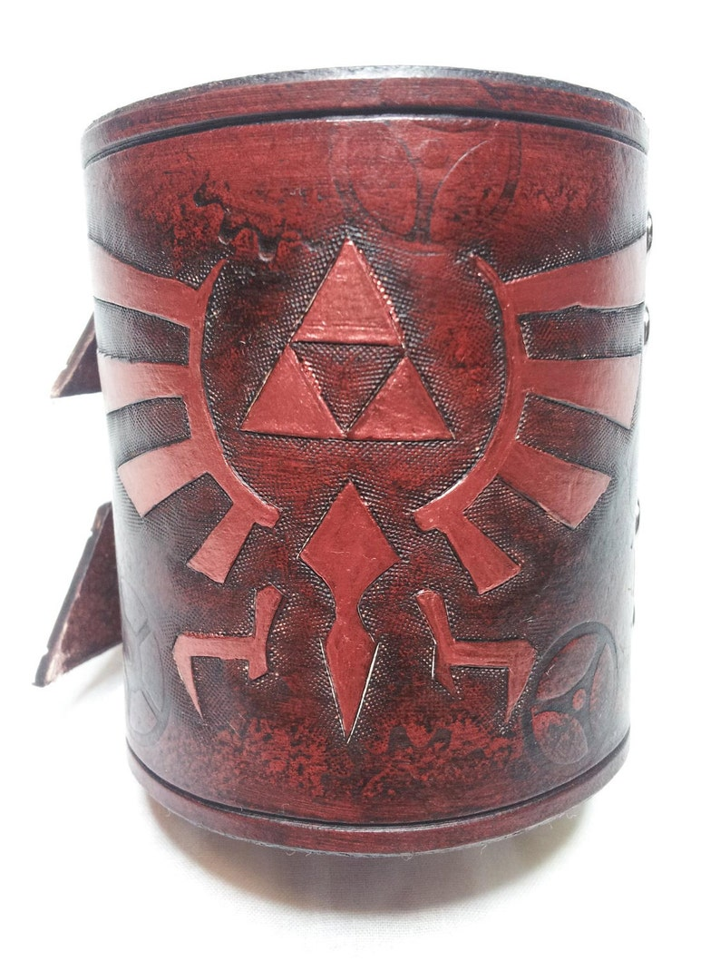 Leather Legend of Zelda Bracelet / Wrist Cuff image 0