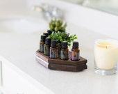Desktop Essential Oil Storage Shelf, Oil Display, Wood Shelf, Aromatherapy Storage, Office Accessories, Essential Oil Rack, Desk Accessories