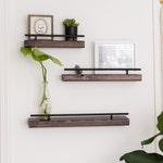 Rustic Floating Wall Shelf, Flush Mount Shelving, Modern Wall Shelf, Farmhouse Living Room Decor, Bathroom Shelf, Entryway Decor