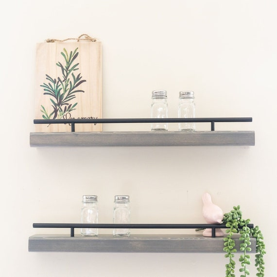 Wall Mounted Spice Rack, Floating Shelf For Spices, Kitchen Wall Decor,  Wood Wall Shelves, Pantry Storage, Spice Organizer