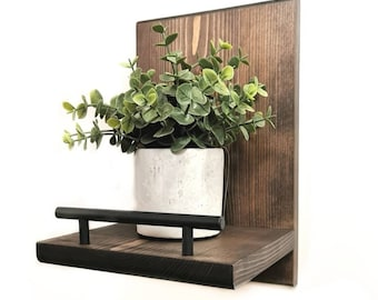 Wall Mounted Plant Shelf, Accent Wall Shelves, Modern Wall Shelf,  Plant Holder, Wall Decor, Wall Sconces, Living Room Decor