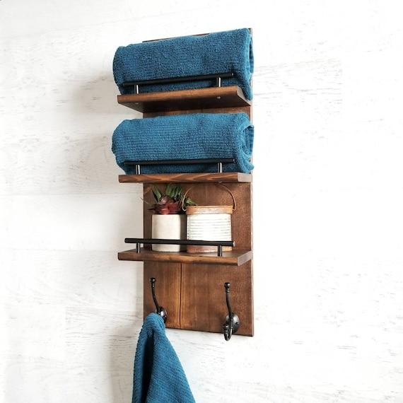 floating shelves for bathroom towels