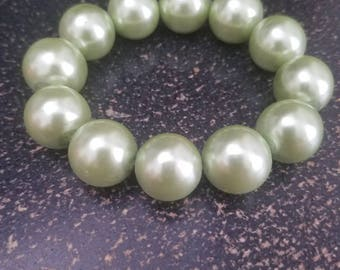 Lime Beaded Stretchy Bracelet