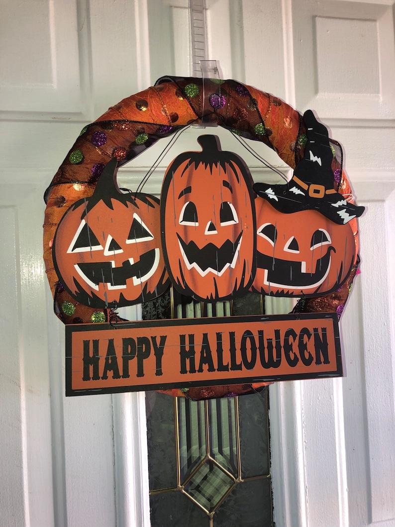 Halloween sign d\u00e9cor Cute Halloween sign decor Halloween farmhouse decor Halloween wall art Framed Halloween sign Trick or Treat sign
