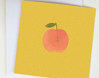 Peachy greetings card