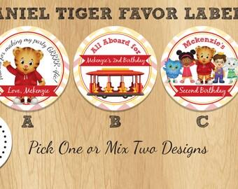 Daniel Tiger - 4 Inch Favor Labels