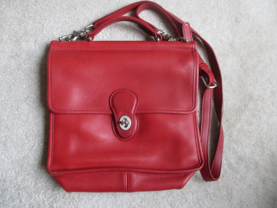 Coach Red leather Willis crossbody.
