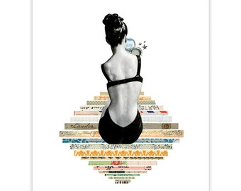 Isn't She Lovely - Art Print -  Colorful Collage Art Print - Home Decor Wall Decor