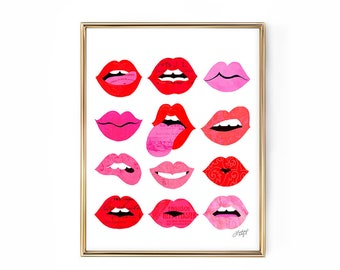 Lips of Love - Illustration Art Print